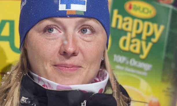 Hiihtäjä Virpi Kuitusen tavoitteena on henkilökohtainen olympiamitali.