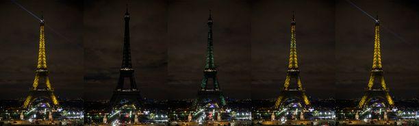 Eiffel-torni kävi myös pimeänä.