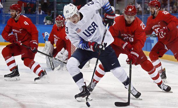 Yhdysvallat ei pärjännyt Venäjän KHL-tähdille.