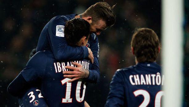 2-0-maalin jälkeen Beckham ja Zlatan löysivät toisensa.