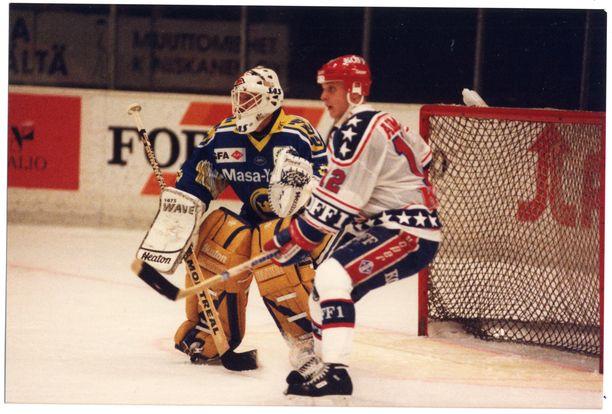 Brower oli tarkkana HIFK:ta vastaan lokakuussa 1993 pelatussa liigaottelussa.