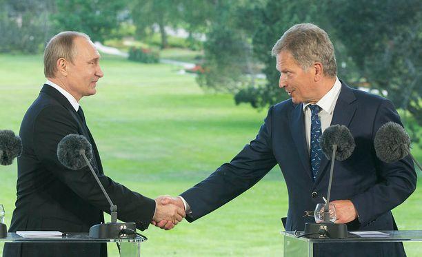 Tasavallan presidentti Sauli Niinistö korosti Putin suhteissa avoimuutta ja henkilöistä tuntemusta.