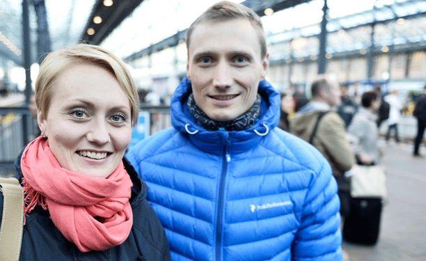 Hannu Manninen. Vieressä Pirjo Muranen (o.s. Manninen).