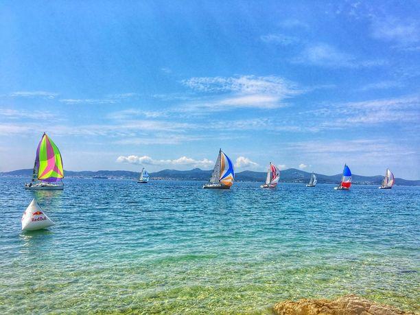 Vesi Zadarin edustalla on ihanan kirkasta.