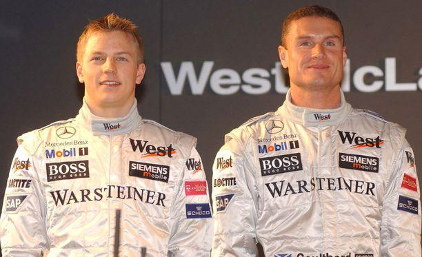 Kimi Räikkönen ja David Coulthard olivat tallikavereita McLarenilla.