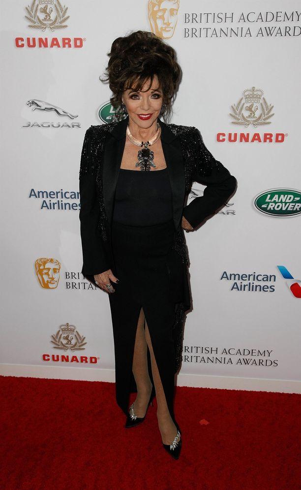 Joan Collins vuonna 2018