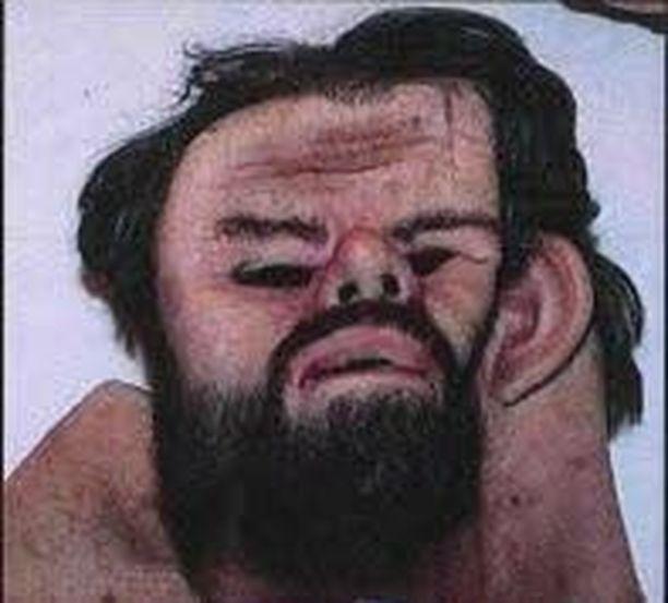 Ruotsin poliisi on julkaissut kuvan naamiosta, jota syytetyn miehen epäillään käyttäneen.