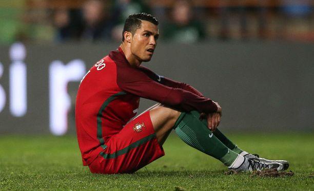 Cristiano Ronaldo epäonnistui taas pilkulta.