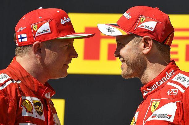 Kimi Räikkönen ja Sebastian Vettel muodostavat toimivan kuskikaksikon.