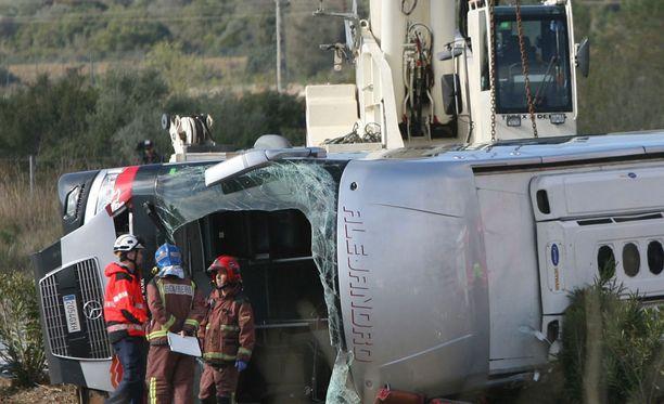 Onnettomuudessa kuoli ainakin 13 ihmistä.