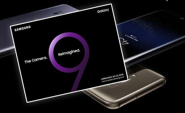Samsung paljasti Galaxy S9:n julkaisupäivän. Taustalla Galaxy S8.