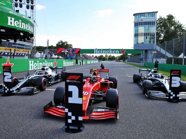 Charles Leclerc nappasi Italian GP:n paalupaikan ennen Lewis Hamiltonia ja Valtteri Bottasta. Lähtöjärjestys saattaa vielä muuttua varsin merkittävästi.