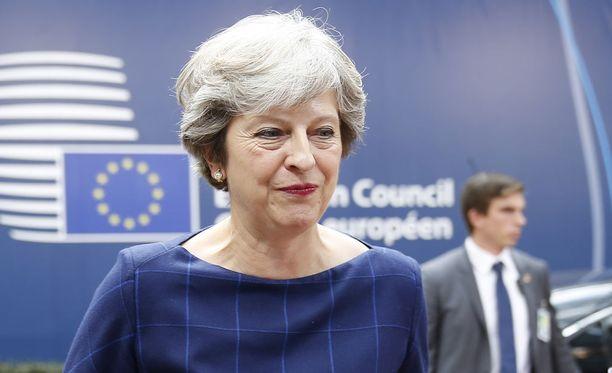 Pääministeri Theresa May Brysselissä 19. lokakuuta 2017.