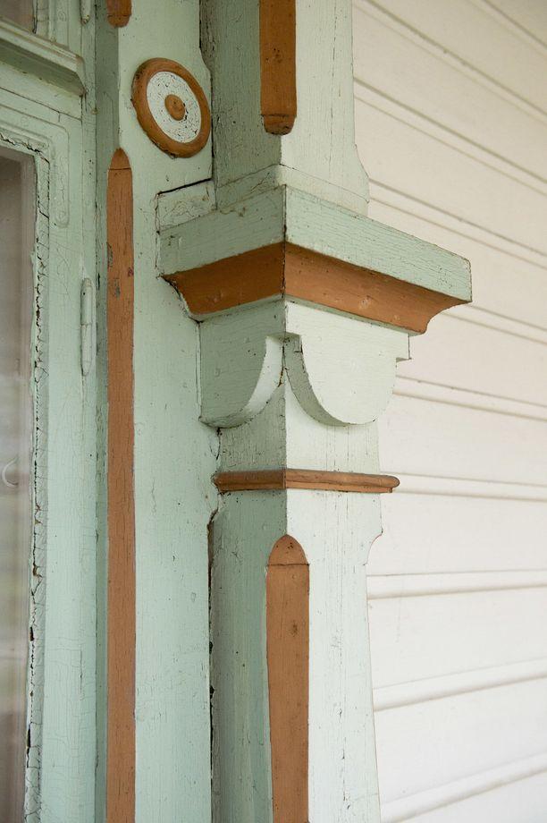 Talon ulkopinnasta löytyy upeita yksityiskohtia.