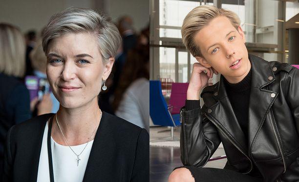 Susanna Koski ja Tuure Boelius ovat tänään Susanne Päivärinnan vieraina.