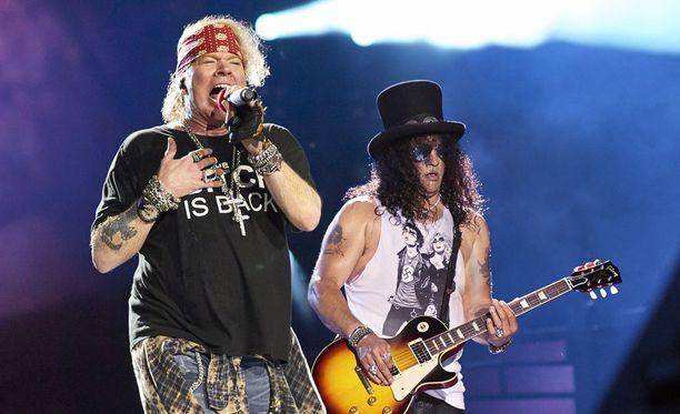 Axl Rose ja Slash nähdään kesällä Suomessa.