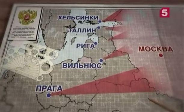 """TV5-kanavalla näytetyssä videossa kerrataan, kuinka lähellä """"vallattavat"""" kohteet ovat."""