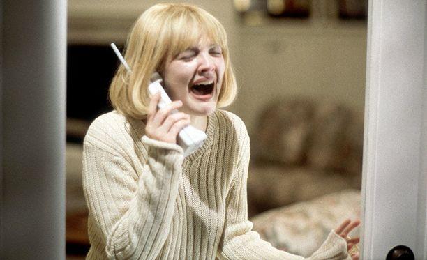 Drew Barrymore Scream-elokuvassa.