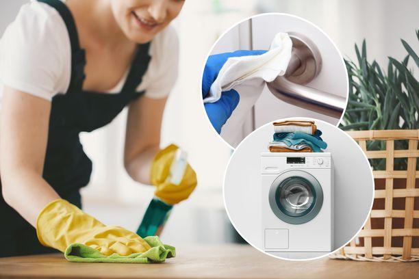 Nyt kannattaa kiinnittää erityistä huomiota kodin pintojen puhtauteen. Pyyhi ovenkahvat ja muut usein kosketeltavat pinnat huolella ja katso, että pinnat eivät jää märäksi. Märkä houkuttelee pöpöjä.