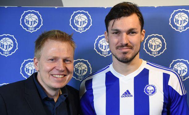 HJK:n toimitusjohtaja Aki Riihilahti on erittäin tyytyväinen HJK:n uusiin pelaajiin.