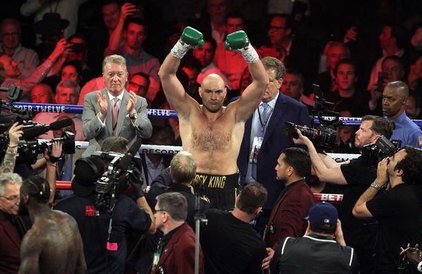 Tyson Fury tuuletti voittoa Deontay Wilderista helmikuussa 2020.