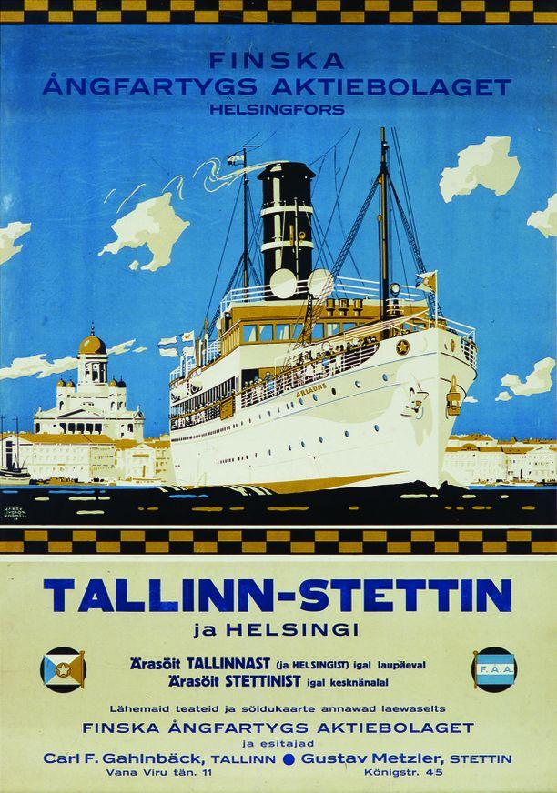 Ariadne-laiva valmistui vuonna 1914. ja sen reitiksi tuli Helsinki–Tallinna–Swienemnde–Stettin. Pian maailmansodan jälkeen alus palautettiin alkuperäiselle reitille, jolta tosin pudotettiin välisatamakäynnit Swienemündessä pois. Ariadne kulki Tallinnan-liikenteessä 1920- ja -30-lukujen ajan.