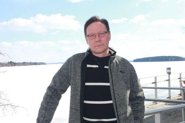 Lappajärveläinen Keijo Keskinen lomaili pääsiäisenä kotikonnuillaan.