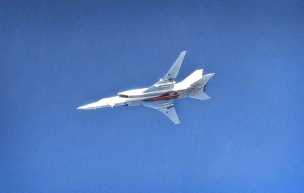 Venäläinen Tu22 Backfire -pommikone.
