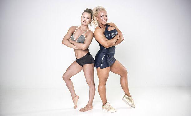 Minna Pajulahden valmentama Oona Ylitolonen on fitnessin kolminkertainen Suomen mestari.