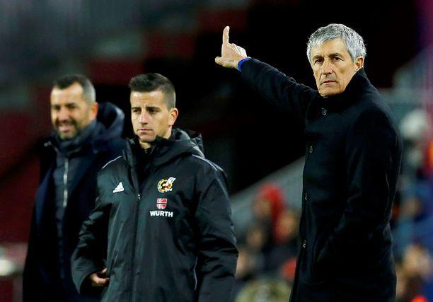 Päävalmentaja Quique Setién luotti seuran konkareihin omassa Barça-debyytissään.