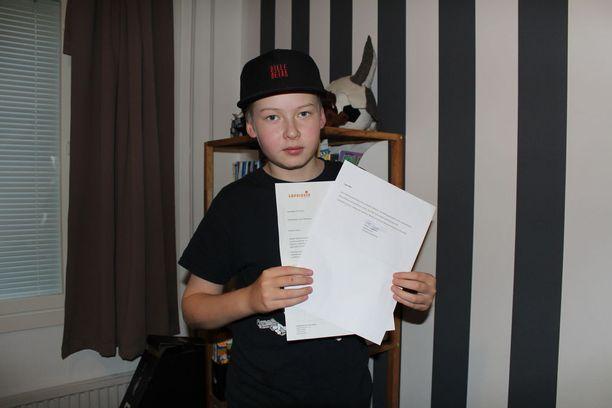 Lapsiasiavaltuutettu Tuomas Kurttila lähetti Leeville kirjeen, jossa hän kiitteli Leeviä rohkeudesta kertoa kokemuksistaan.