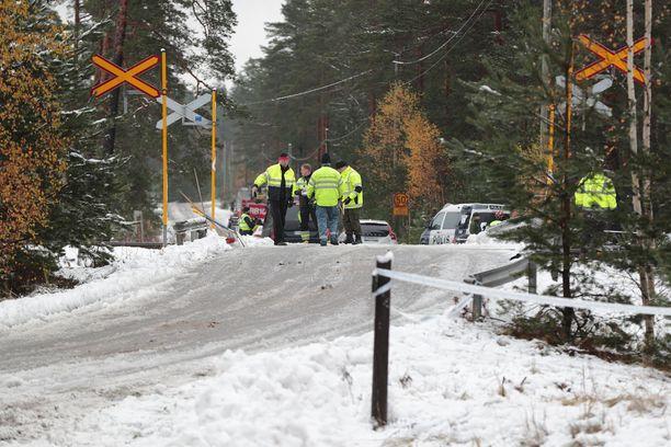 Tämä kuva turmapaikalta otettiin hetki lokakuisen onnettomuuden jälkeen.