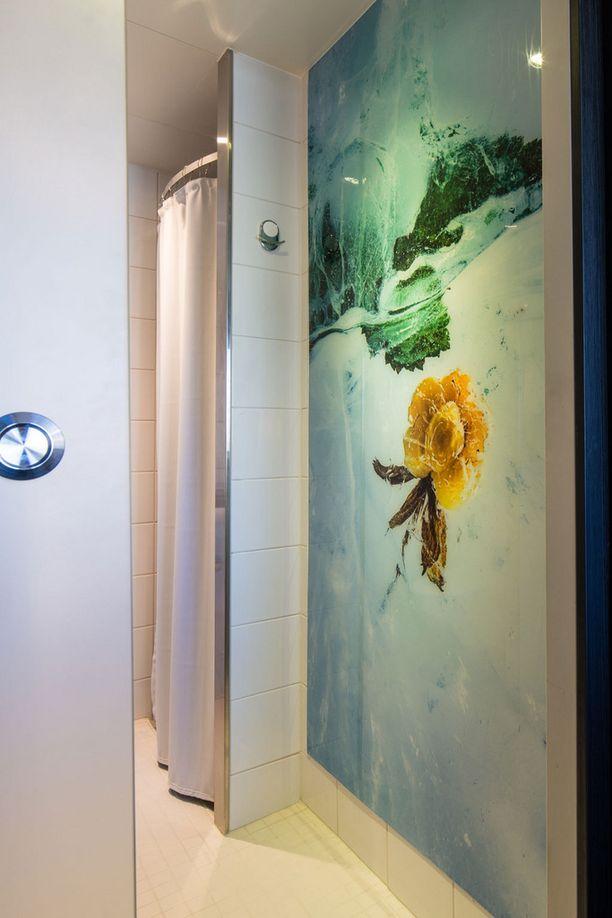 Luonto tulee myös kylpyhuoneeseen.