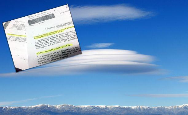 Erikoistutkija Timo Nousiaisen mukaan erikoisia pilvimuodostelmia epäillään toisinaan ufoiksi. Kuvituskuva.