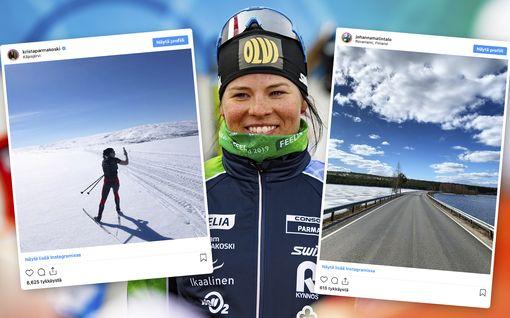 """Tällaista ei nähty eteläisimmässä Suomessa koko talven aikana - Krista Pärmäkoski löysi satumaisen kauniin hiihtopaikan: """"Mä niin nautin"""""""