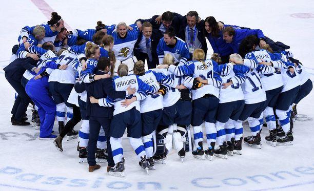 Suomen naisten jääkiekkomaajoukkue saavutti Pyeongchangissa pronssia.