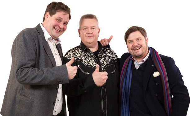 Jethro, Aki ja Janne Hyvät kaupat -ohjelman mainoskuvassa.