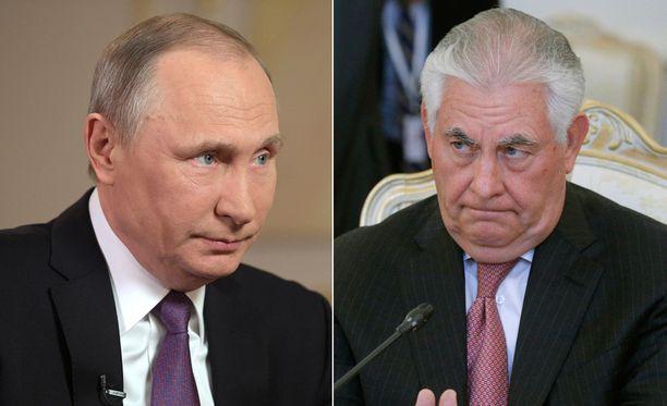 Vladimir Putin ja Rex Tillerson tapaavat toisensa Moskovassa.