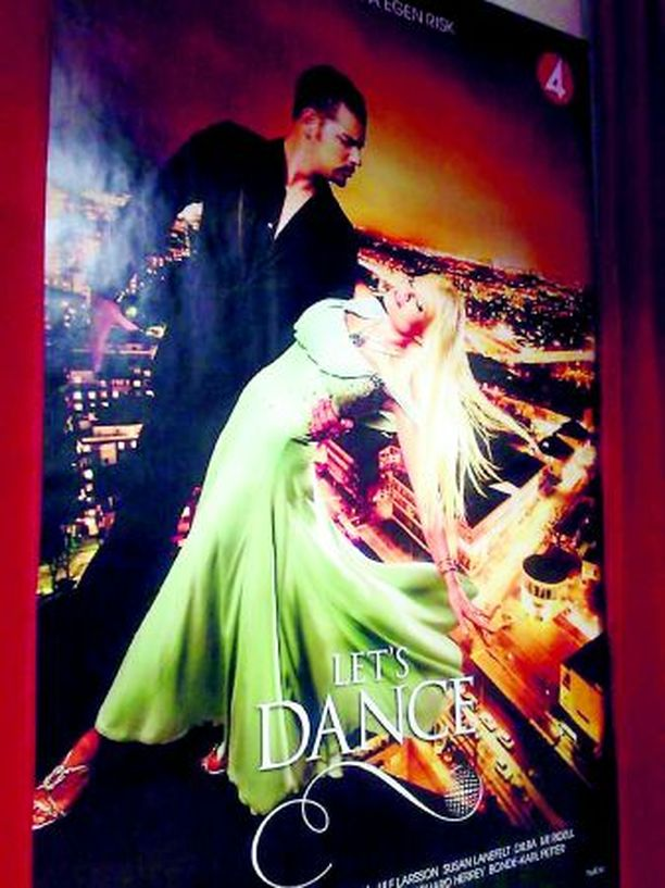 MAINOS Lindan ja tanssipari Daniel de Silvan mainosjuliste koristaa pian Ruotsin katuja.