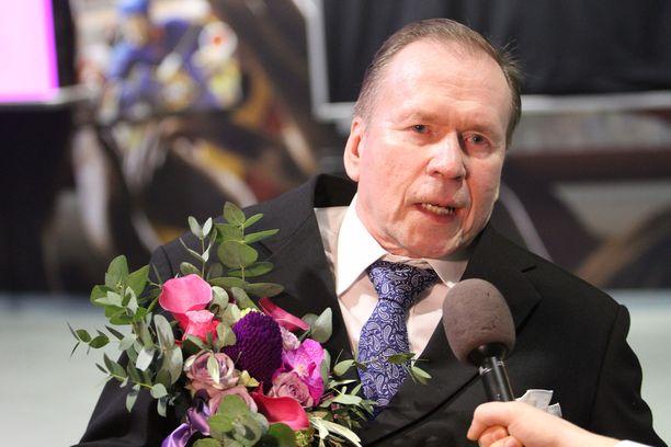 Timo Seppälä palkittiin Urheilugaalassa.