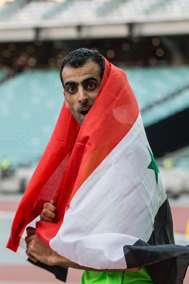 Ghazal kietoutuu monesti kisojen jälkeen kotimaansa lippuun.