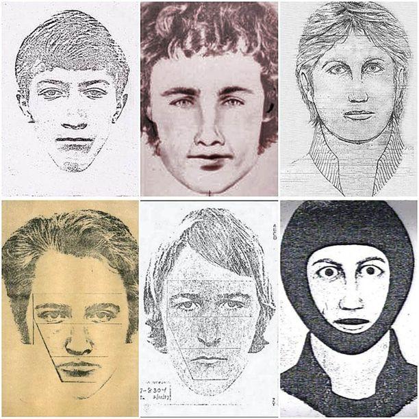 Golden State Killeriä yritettiin etsiä muun muassa tällaisilla piirroskuvilla.