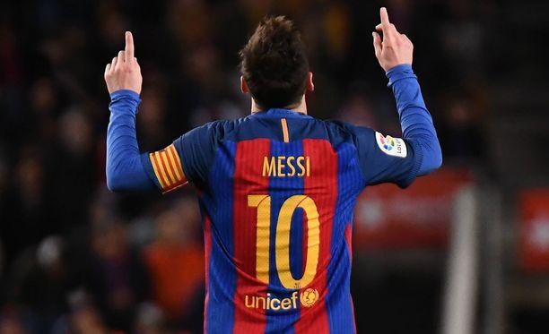 Lionel Messi on pelannut Barcan ykkösmiehistössä vuodesta 2004 lähtien.