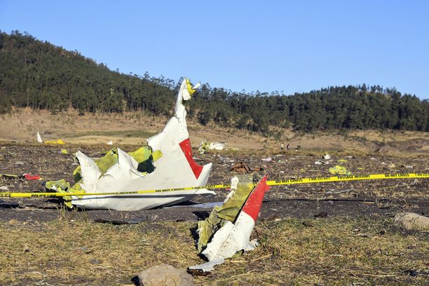 Etiopian lentoturmassa kuoli 157 ihmistä.