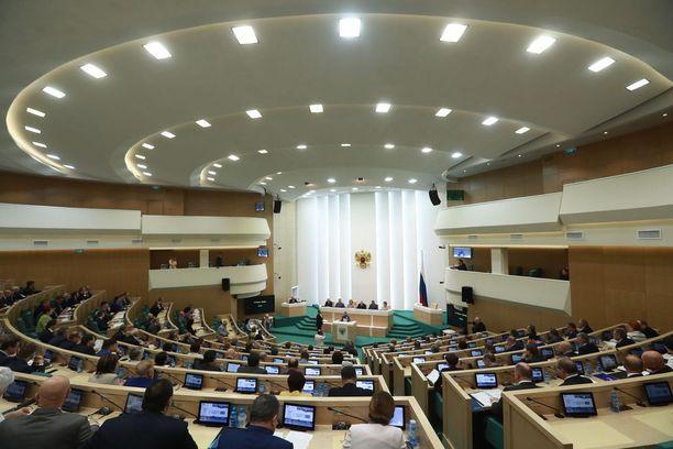 Venäjän liittoneuvostossa on edustettuna federaation eri alueet. Kuvituskuva.