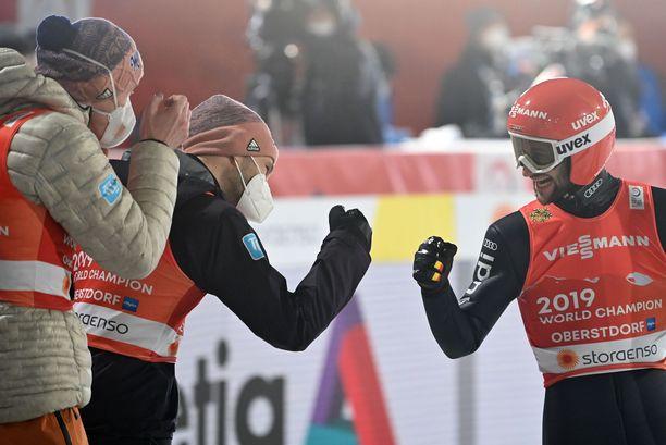 Saksan joukkue otti MM-kultaa joukkuekisassa.