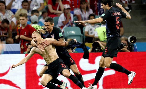 Kroatia juhlii MM-välieräpaikkaa.