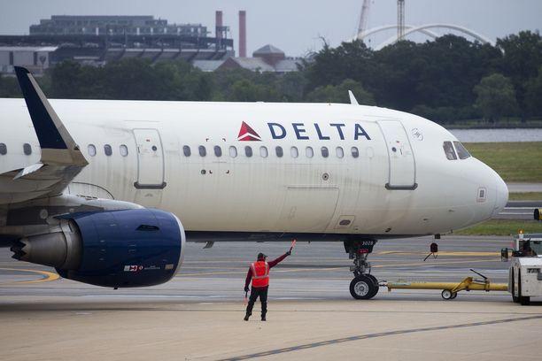 Delta Airlines on Yhdysvaltojen kolmanneksi suurin lentoyhtiö.