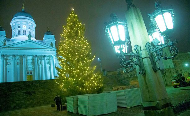 Valkoisen joulun todennäköisyys on Helsingin ja Turun tienoilla suurin piirtein 50 prosenttia. Arkistokuva.