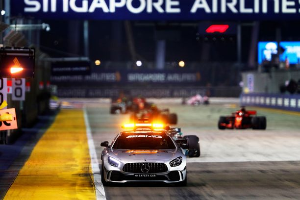 Turva-auto on nähty radalla toistaiseksi jokaisessa Singaporen GP:ssä.